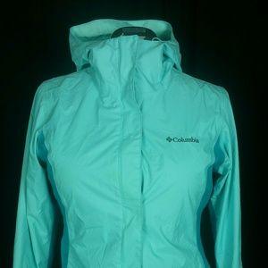 Omnitech Columbia Sportswear Teal Windbreaker sz.s